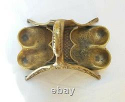 Porte pipe de Max le Verrier Art déco en bronze. Signé. (Rare)