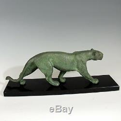 RULAS sculpteur Art Déco Panthère Bronze signé