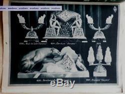 Rare Catalogue Art Déco BRONZART Sculptures Vases Serre-livres Pendules Lampes