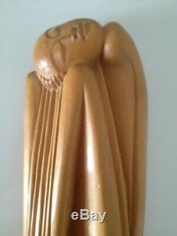 Rare Sculpture Femme Epoque Art Deco 1920/30 Indonesie