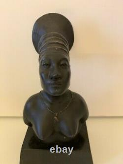 Rare Sculpture Femme Mangbetou Symbole De La Croisiere Noire 1925 Citroen