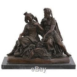 Reine Roman figure bronze histoire art sculpture déco Maison Cire Perdue Royale