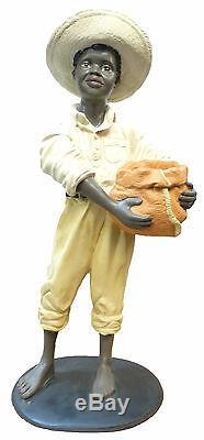 Resine sculpture Personnage Statue de DÉCORATION Artisanal Porte Pot 110cm