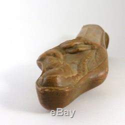 Riccardo Scarpa Sculpture en Terre Cuite Patinee 1930 1940 Art Deco Era