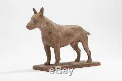 Richard FATH Bull-terrier, Terre cuite originale signée. Période Art Déco