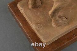 Richard FATH Pinchey Champion, Terre cuite originale signée. Période Art Déco