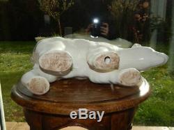 SCULPTURE Art Déco en Céramique Craquelée Représentant un OURS