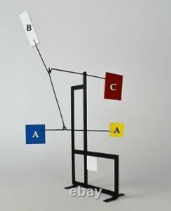 STABILE MOBILE ART SCUPLTURE DECO MID CENTURY DESIGN 50's MONDRIAN DE STIJL 1950