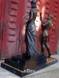 STATUES, SCULPTURES de GEORGES GORI / ART NOUVEAU, DECO / H 46 CM
