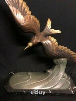 Sculpture ART DECO en bronze MOUETTE
