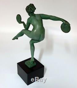 Sculpture Art Deco DERENNE Marcel BOURAINE Danse paienne Edition Max Le Verrier