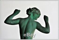 Sculpture Art Déco signée R. Guerbe Le Faguays Vague, édition Max Le Verrier