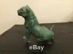 Sculpture Art déco en régule Lionne et lionceau dlg J. ROCHARD