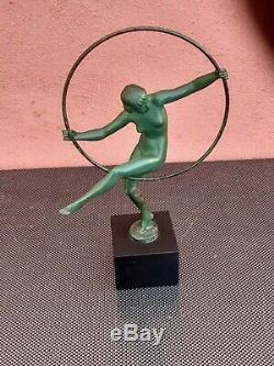 Sculpture Briand Danseuse au cerceau Max Le Verrier / Bouraine