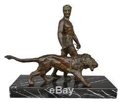 Sculpture Bronze Art déco 1930 Art déco Le dresseur de lion par Decoux