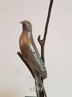 Sculpture Bronze Oiseau, Hirondelle De I. ROCHARD. 1906 -1984