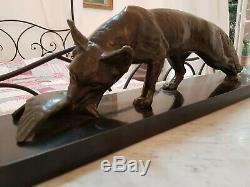 Sculpture Epoque Art Deco / Renard Bronze Signe