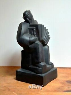 Sculpture L'accordéoniste des Frères Martel