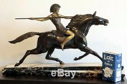 Sculpture armand lemo art déco déesse guerrière warrior goddess