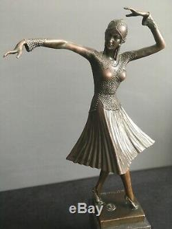 Sculpture bronze Art déco Demetre CHIPARUS Danseuse russe