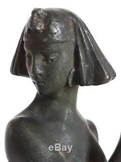 Sculpture bronze danseuse Eugène PIRON 1930 Art Déco