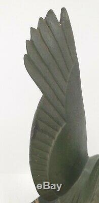 Sculpture cassée MAX LE VERRIER vautour oiseau regule bronze FONTE ART deco 1930