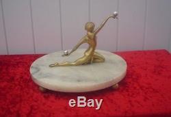 Sculpture en Bronze Art Deco bronze dorè argentè