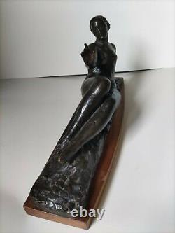 Sculpture en bronze Art déco, par Le Faguays, circa 1930