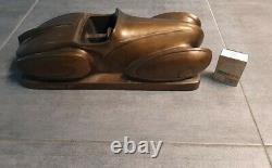 Sculpture en bronze moderniste voiture design Art déco Packard Aquarius 1934