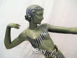 Sculpture en métal époque art déco diane la chasseresse