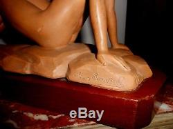 Sculpture en terre cuite art déco signée D. Daniel