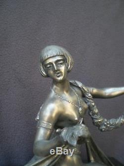 Sculpture femme nue art deco 1930 LIMOUSIN antique statue nude figurine woman
