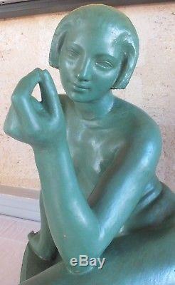 Sculpture femme terre cuite art déco Albert Patrisse