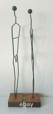 Sculpture fil fer métal homme femme Laurids Lonborg MADE IN DENMARK IKEA Vintage