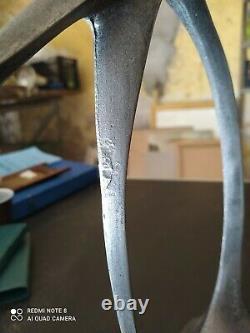 Sculpture perroquet 38cm art deco en aluminium, zamac zamak signée
