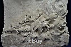 Sculpture pierre bas relief art déco réf A27/27