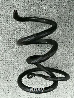 Sculpture serpent fer forgé art déco Iron wrought snike