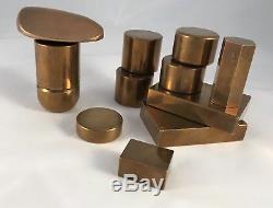 Série De 12 Bronzes Sculptures Formes Libres Moderniste Bauhaus Art Déco