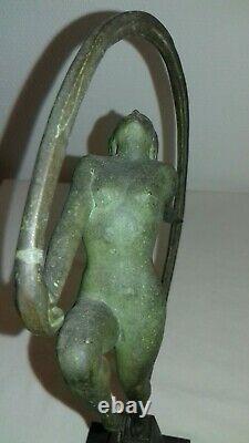 Statue Sculpture Art Deco 1930 Femme Danseuse