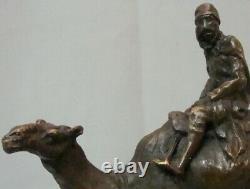 Statue Sculpture Dromadaire Chameau Animalier Touareg Style Art Deco Style Art N