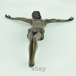 Statue Sculpture Jesus-Christ Style Art Deco Bronze massif