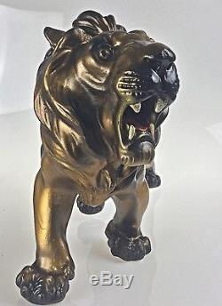 Statue Sculpture Lion Animalier Style Art Deco Style Art Nouveau -55 cm 3 kg