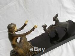 Statue Sculpture Signe Menneville Art Deco 1930 Chryselephantine French