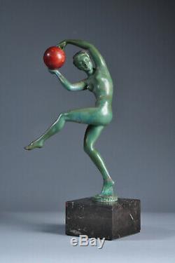 Statue sculpture Max Le Verrier Briand Art Déco 1930 antique old nude woman