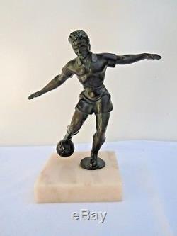 Statue sculpture footballeur Ignacio Gallo Art Déco