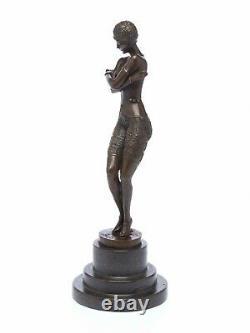 Statuette de danseuse d´après Ferdinand Preiss (1882-1943) style Art déco