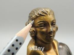 Superbe Élément De Sculpture Femme Élégante Grand Non De L Art Deco A Voir
