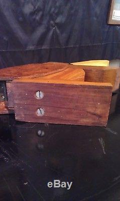 Superbe sculpture art déco 1930 Pélican, boîte à cigarette de bureau! RARE
