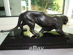 Superbe sculpture panthère Art Déco années 30 panther statue