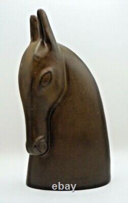 Tête de cheval stylisé céramique émaillée art deco sculpture 1940
